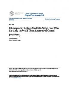 If Community College Students Are So Poor Why ...