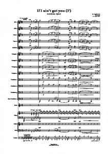 If i ain't got you (F) - Bigband Scores