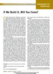 If We Build It, Will You Come?