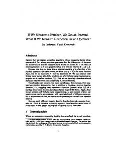 If We Measure a Number, We Get an Interval. What If We Measure a ...