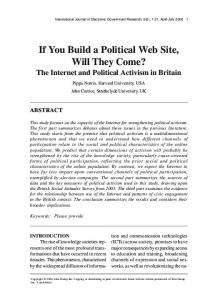 If You Build a Political Web Site, Will They Come? - Semantic Scholar