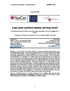 If you build a political website, will they come? - Semantic Scholar