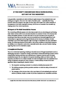 If You Do Not Understand Mold Remediation Get ... - Surviving Mold