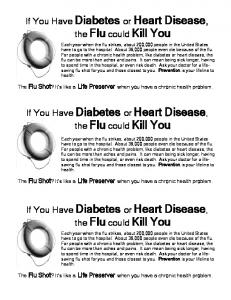 If You Have Diabetes or Heart Disease, the Flu could Kill You If You ...