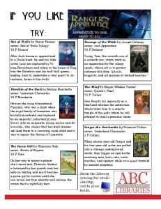 If you like Ranger's Apprentice... - at ABC Library
