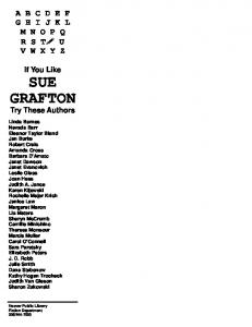 If you Like Sue Grafton - Hoover Public Library