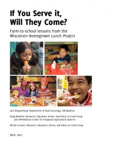 If You Serve it, Will They Come? - Community and Environmental ...