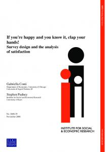 If you're happy and you know it, clap your hands! - Institute for Social ...