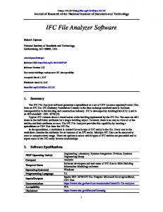 IFC File Analyzer Software - NIST Page - National Institute of ...