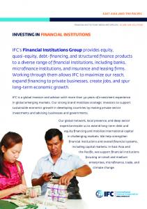 IFC in Financial Markets
