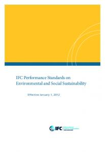 IFC Performance Standards on Environmental and Social ...