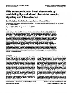 IFNa enhances human B-cell chemotaxis by modulating ligand ...