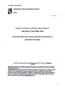 IFPRI Farmers' information needs and search ... - AgEcon Search