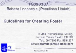 IG090307 Bahasa Indonesia (Penulisan Ilmiah) Guidelines for ...
