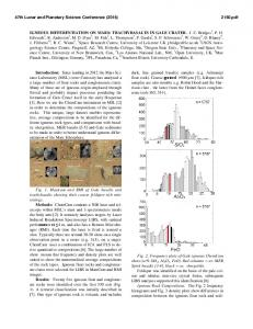 IGNEOUS DIFFERENTIATION ON MARS: TRACHYBASALTS IN ...