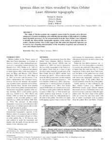 Igneous dikes on Mars revealed by Mars Orbiter ... - GSA Publications
