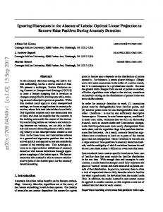 Ignoring Distractors in the Absence of Labels: Optimal Linear ... - arXiv