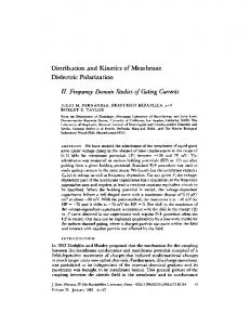 II. Frequency Domain Studies of Gating Currents - Europe PMC