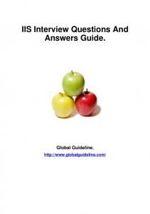IIS Interview Questions And Answers Guide. - Tech Professional ...