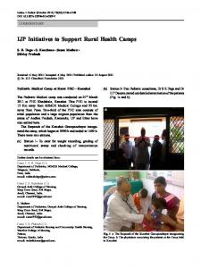IJP Initiatives to Support Rural Health Camps - Springer Link