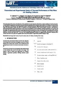 ijst Theoretical and Experimental Study of Thermal Performance of Flat