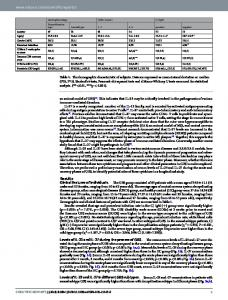 IL-23 and IL-27 Levels in Serum are Associated with ... - Naturewww.researchgate.net › publication › fulltext › 32312753