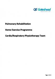 IL411 Pulmonary Rehabilitation Home Exercise Programme