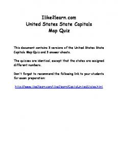 Ilike2learn.com United States State Capitals Map Quiz