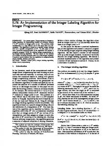 ILIN: An Implementation of the Integer Labeling