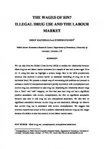 illegal drug use and the labour market - CiteSeer
