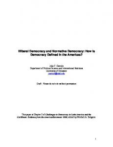Illiberal Democracy and Normative Democracy: How is ... - CiteSeerX