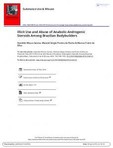 Illicit Use and Abuse of Anabolic-Androgenic