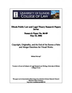 Illinois Public Law and Legal Theory Research Papers ... - SSRN papers