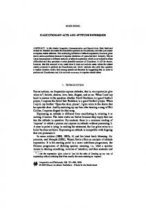 Illocutionary Acts and Attitude Expression - Springer Link