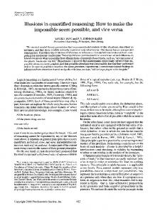 Illusions in quantified reasoning: How to make the impossible seem ...