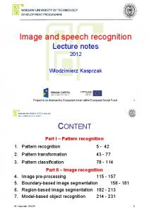 Image and speech recognition