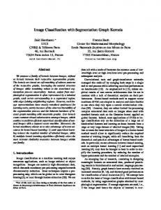 Image Classification with Segmentation Graph ... - MINES ParisTech
