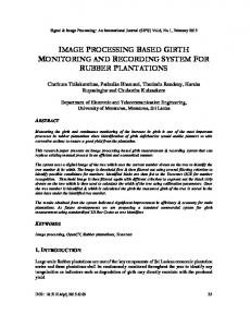 image processing based girth monitoring and ... - Aircc Digital Library