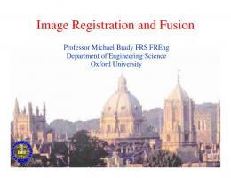 Image Registration and Fusion