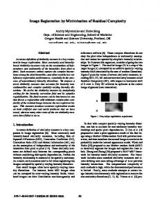 Image Registration by Minimization of Residual Complexity