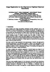Image Registration for the Alignment of Digitized Historical ... - arXiv