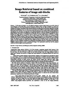 Image Retrieval based on combined features of image sub-blocks
