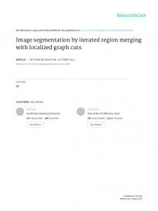 Image segmentation by iterated region merging with
