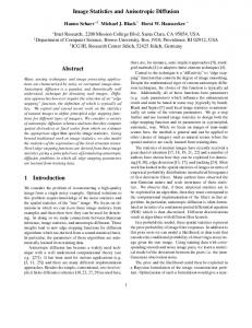 Image Statistics and Anisotropic Diffusion Abstract 1 ... - CiteSeerX