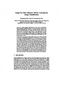 Image-To-Class Distance Metric Learning for ... - Semantic Scholar
