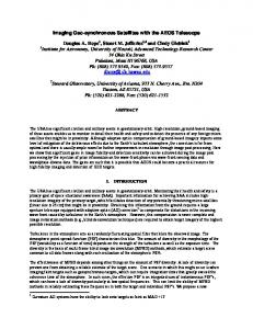 Imaging Geo-synchronous Satellites with the ... - AMOS Conference