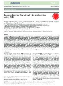 Imaging learned fear circuitry in awake mice ... - Wiley Online Library