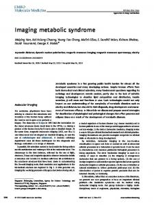 Imaging metabolic syndrome - Wiley Online Library