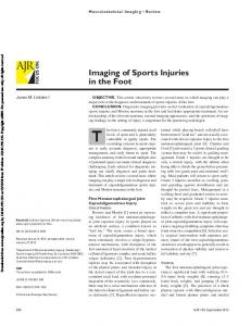 Imaging of Sports Injuries in the Foot