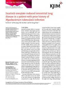 Imatinib mesylate-induced interstitial lung disease in a patient with ...